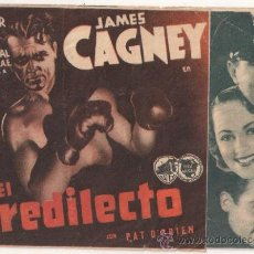 Cine: EL PREDILECTO PROGRAMA DOBLE WARNER BOXEO JAMES CAGNEY OLIVIA DE HAVILLAND LLOYD BACON. Lote 32140643
