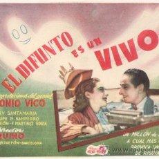 Cine: EL DIFUNTO ES UN VIVO PROGRAMA SENCILLO CIFESA CINE ESPAÑOL PACO MARTINEZ SORIA MARY SANTPERE. Lote 32143209