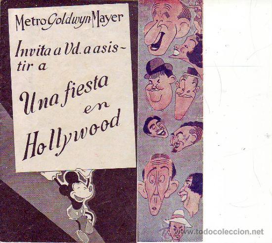 UNA FIESTA EN HOLLYWOOD - C/P (Cine - Folletos de Mano - Comedia)