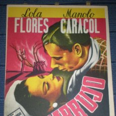 Cine: EMBRUJO DE LOLA FLORES Y MANOLO CARACOL PROGRAMA DE CINE SIN USAR. Lote 54941479