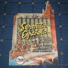Cine: SERENATA ESPAÑOLA JUANITA REINA JULIO PEÑA PROGRAMA CINE TROQUELADO - ESTRENO AVENIDA MADRID SEVILLA. Lote 221531838