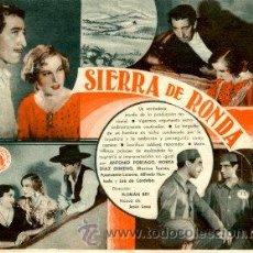 Cine: SIERRA DE RONDA.- DOBLE.- REVERSO TEATRO PRINCIPAL. Lote 32194543