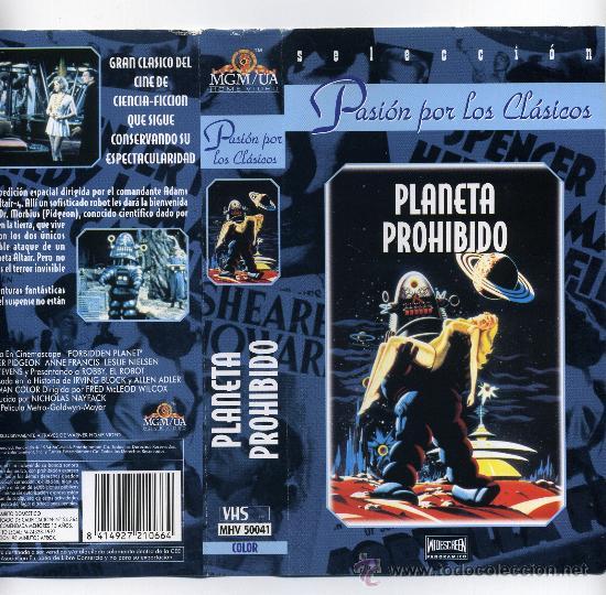 PLANETA PROHIBIDO, CON WALTER PIDGEON. VIDEO VHS. (Cine - Folletos de Mano - Ciencia Ficción)