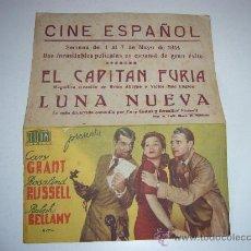 Cine: LUNA NUEVA CARY GRANT PROGRAMA DOBLE CINE ESPAÑOL VALENCIA. Lote 32202613