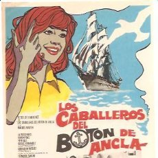 Cine: PROGRAMA LOS CABALLEROS DEL BOTÓN DE ANCLA. Lote 141703357