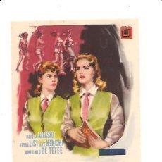 Foglietti di film di film antichi di cinema: PROGRAMA DIABLILLOS DE UNIFORME. Lote 32216031