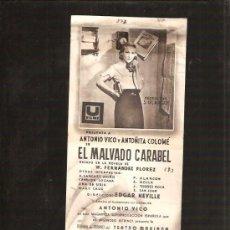 Cine: MALVADO CARABEL. Lote 32222500