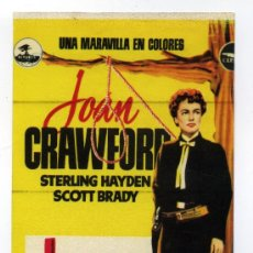 Cine: JOHNNY GUITAR, CON JOAN CRAWFORD. ADESIVO.. Lote 183981192