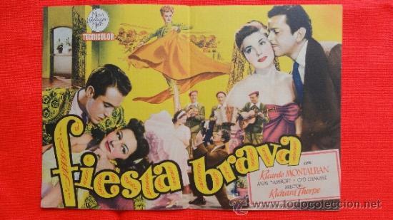 Cine: FIESTA BRAVA, DOBLE EXCELENTE ESTADO, ESTHER WILLIAMS, MGM, CON PUBLICIDAD CINE TIVOLI - Foto 2 - 32286330