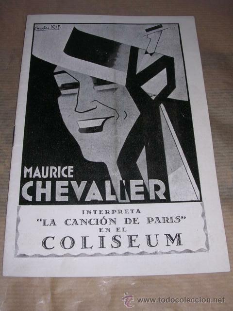 Cine: LA CANCION DE PARIS MAURICE CHEVALIER ,COLISEUM ,AÑOS 30 -16 PAG. 20X13,5 CM. - Foto 2 - 32322075