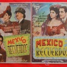 Cine: MEXICO DE MIS RECUERDOS, FENANDO SOLER, 2 PROGRAMAS 1946, EXCLTE EST CON PUBLI VIÑES Y BARTRINA. Lote 32358316