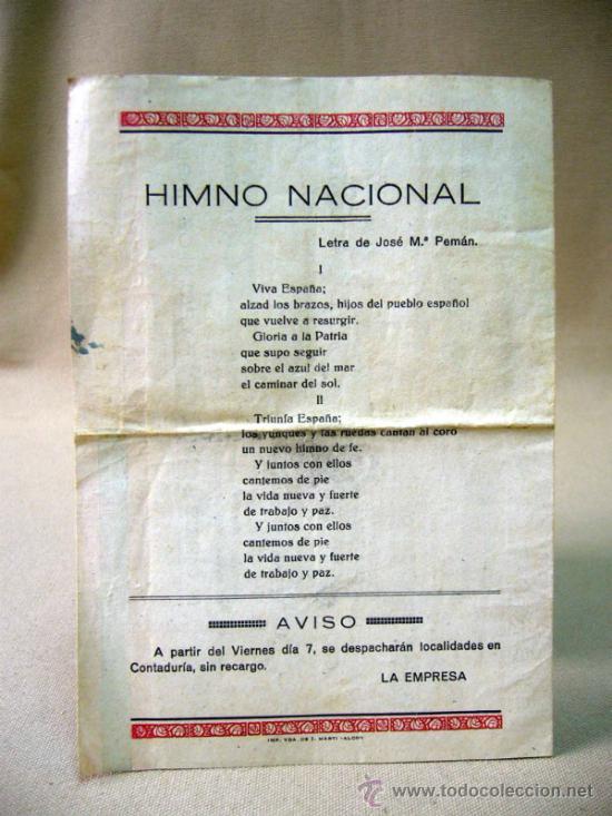 Cine: RARO PROGRAMA O FOLLETO DE MANO, CINE DOCUMENTAL, SU SANTIDAD OS HABLA, 1939, TEATRO CIRCO, FALANGE - Foto 3 - 32392478
