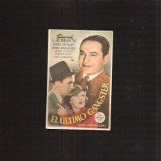 Folhetos de mão de filmes antigos de cinema: EL ULTIMO GANGSTER. Lote 32383934