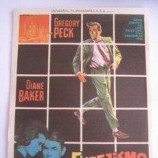 Foglietti di film di film antichi di cinema: ESPEJISMO GREGORY PECK UNIVERSAL - FOLLETO DE MANO ORIGINAL ESTRENO CON CINE IMPRESO. Lote 32393397