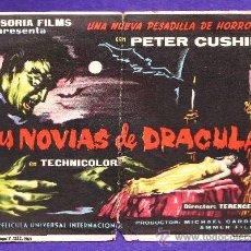 Cine: FOLLETO MANO - LAS NOVIAS DE DRACULA - P.CUSHING - TARRAGONA / C. CAPITOL - TGN - AÑO 1961 - JR. Lote 32399012