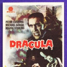 Cine: FOLLETO MANO - DRACULA - CHRISTOPHER LEE / P.CUSHING - CINE TARRAGONA - TGN - AÑO 1960 - JR. Lote 32399088