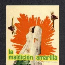 Cine: PROGRAMA DE CINE LA MALDICION AMARILLA. Lote 32424227