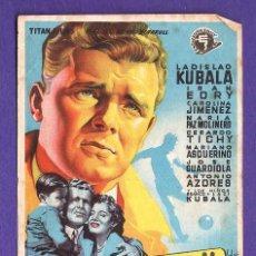 Cinema - folleto mano - ¡¡kubala!! los ases buscan la paz - tarragona/c.moderno - tgn -año 1955 - 32455515