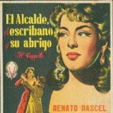 Cine: EL ALCALDE, EL ESCRIBANO Y SU ABRIGO. Lote 32468429