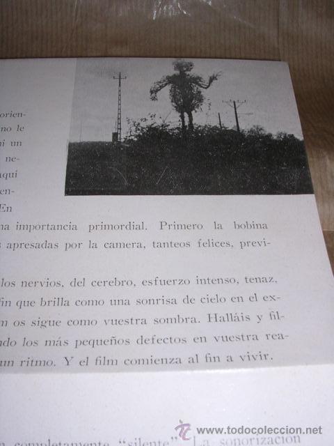 Cine: PROGRAMA ( VANGUARDIAS ) ROBOTS UN FILM DE EUGEN DESLAW 16 ENERO 1931 STUDIO CINAES DESPLEGABLE 8 - Foto 2 - 32488788