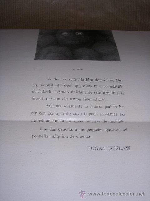 Cine: PROGRAMA ( VANGUARDIAS ) ROBOTS UN FILM DE EUGEN DESLAW 16 ENERO 1931 STUDIO CINAES DESPLEGABLE 8 - Foto 3 - 32488788
