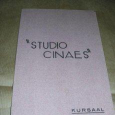 Cine: PROGRAMA ( VANGUARDIAS ) SOUS LES TOITS DE PARIS DE RENE CLAIR - EN RADE DE A. CAVALCANTI - UNA PRO. Lote 32489672