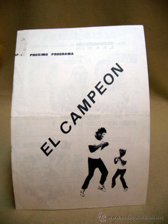 Cine: PROGRAMA DE CINE, APOLO CINEMA, LOS BINGUEROS, EL CAMPEON, MARIANO OZORES, 1980, - Foto 2 - 32504677