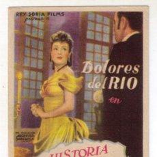 Cine: HISTORIA DE UNA MALA MUJER - DOLORES DEL RIO - 1948 - SIN PUBLICIDAD. Lote 32509414