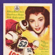 Folhetos de mão de filmes antigos de cinema: FOLLETO MANO - LOS NOVIOS DE LA MUERTE - MOTORISMO - TARRAGONA/C.CAPITOL - TGN - AÑOS 50 - JR. Lote 32517638
