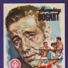 Foglietti di film di film antichi di cinema: FOLLETO MANO - MAS DURA SERA LA CAIDA - BOGART - BOXEO - TARRAGONA/C.FEMINA - TGN - AÑOS 50 - JR. Lote 32517686