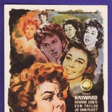 Flyers Publicitaires de films Anciens: FOLLETO MANO - MAÑANA LLORARE - SUSAN HAYWARD - CINE TARRAGONA - TGN - AÑOS 50. Lote 205863910