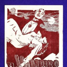 Cine: FOLLETO MANO - EL VAMPIRO - TARRAGONA / CINE PRINCIPAL - TGN - AÑOS 50 - JR. Lote 32536288