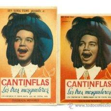Cine: CANTINFLAS LOS 3 MOSQUETEROS - 2X1 ORIGINAL CON PROPAGANDA -. Lote 32626334