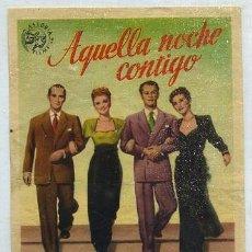 Cine: PROGRAMA DE CINE: AQUELLA NOCHE CONTIGO PC-1829. Lote 32655265