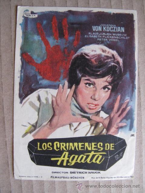 LOS CRIMENES DE AGATA (Cine - Folletos de Mano - Drama)