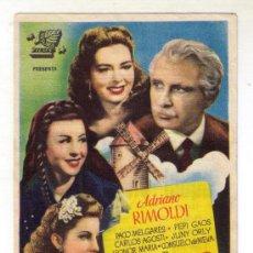 Cine: AQUEL VIEJO MOLINO - ADRIANO RIMOLDI -1946 - PUBLICIDAD EN TEATRO-CINE CAPITOL. Lote 32668046