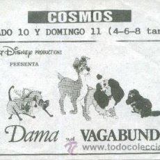 Cine: LA DAMA Y EL VAGABUNDO. Lote 209072191