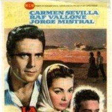 Cine: LA VENGANZA, CARMEN SEVILLA.- SENCILLO.- REVERSO IMPRESO CINE VICTORIA. Lote 32781315