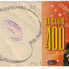 Cine: PROGRAMA DOBLE, EL CLUB 4000 - ANNE SHIRLEY - 1942 - SELLO DEL CINE ORIENTE. Lote 32817563