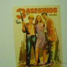 Cine: PROGRAMA DE MANO 3 ASESINOS. Lote 32827844