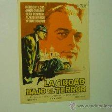 Cine: PROGRAMA DE CINE LA CIUDAD BAJO EL TERROR. Lote 32887564