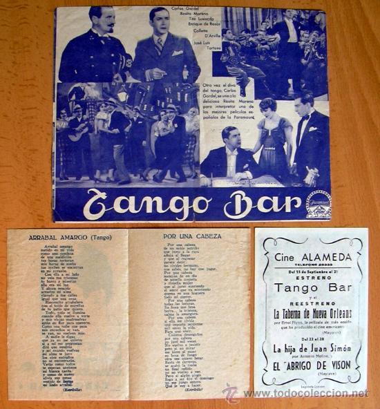 Cine: Tango bar - tres programas diferentes - Carlos Garcel - Con publicidad - Foto 2 - 32936537
