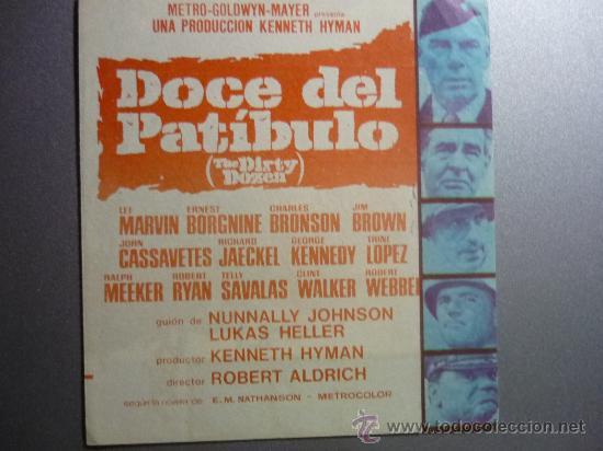 PROGRAMA DOBLE DOCE DEL PATIBULO CON PUBLICIDAD (Cine - Folletos de Mano - Bélicas)