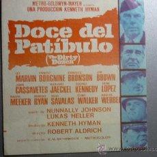 Cine: PROGRAMA DOBLE DOCE DEL PATIBULO CON PUBLICIDAD. Lote 32942359