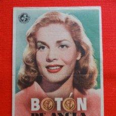 Cine: BOTON DE ANCLA, SENCILLO 1948, PUBLICIDAD CINE MODERNO. Lote 32953141