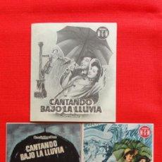 Cine: CANTANDO BAJO LA LLUVIA, GENE KELLY, 3 IMPECABLES PROGRAMAS 1 DOBLE MGM, CON PUBLICIDAD LOS 3. Lote 32961579