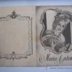 Cine: MARIA ANTONIETA NORMA SHEARER TYRONE POWER JOHN BARRYMORE - FOLLETO DE MANO DOBLE ORIGINAL ESTRENO. Lote 33012228