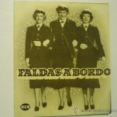 Cine: PROGRAMA CINE DOBLE FALDAS A BORDO. Lote 33046174
