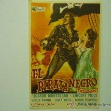 Cine: PROGRAMA CINE EL PIRATA NEGRO. Lote 33054389