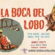 Cine: EN LA BOCA DEL LOBO- SILVIA KOSCINA. Lote 33081522